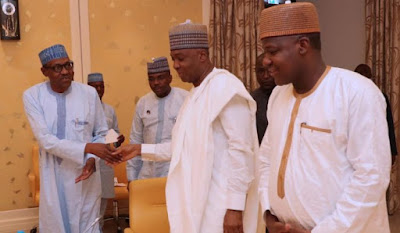 Saraki and Dogara Meet Buhari In Aso Rock Over Plateau Killings