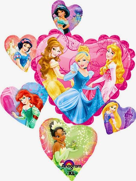 Фольгированные шарики принцесы
