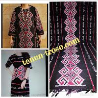 Baju Wanita dari kain tenun blanket