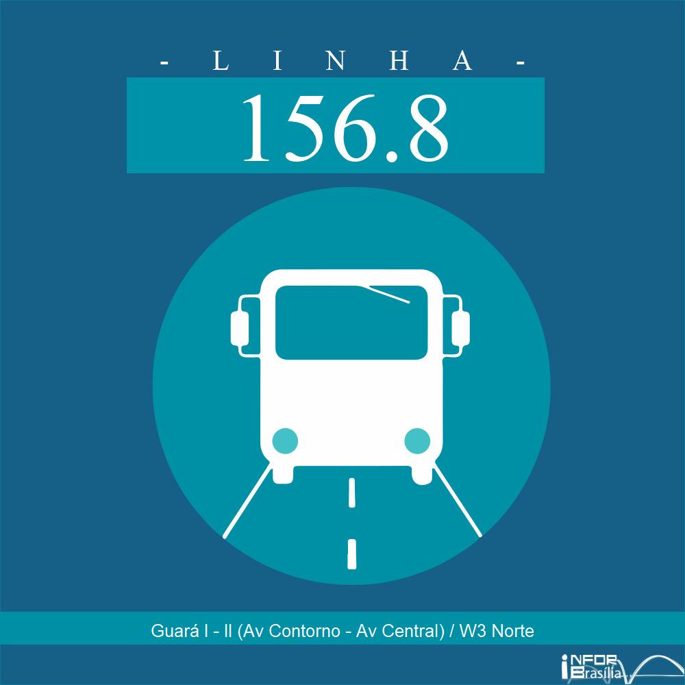 Horário de ônibus e itinerário 156.8 - Guará I - II (Av Contorno - Av Central) / W3 Norte