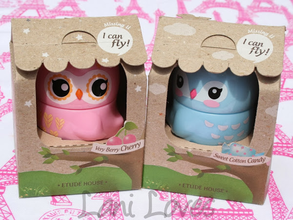 Etude House Missing U I Can Fly Handcream - #1 Eagle Owl and #3 Cerulean Warbler