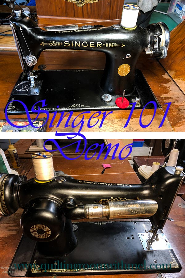 Singer 101 Sewing Machine Information & Demo - The Quilting