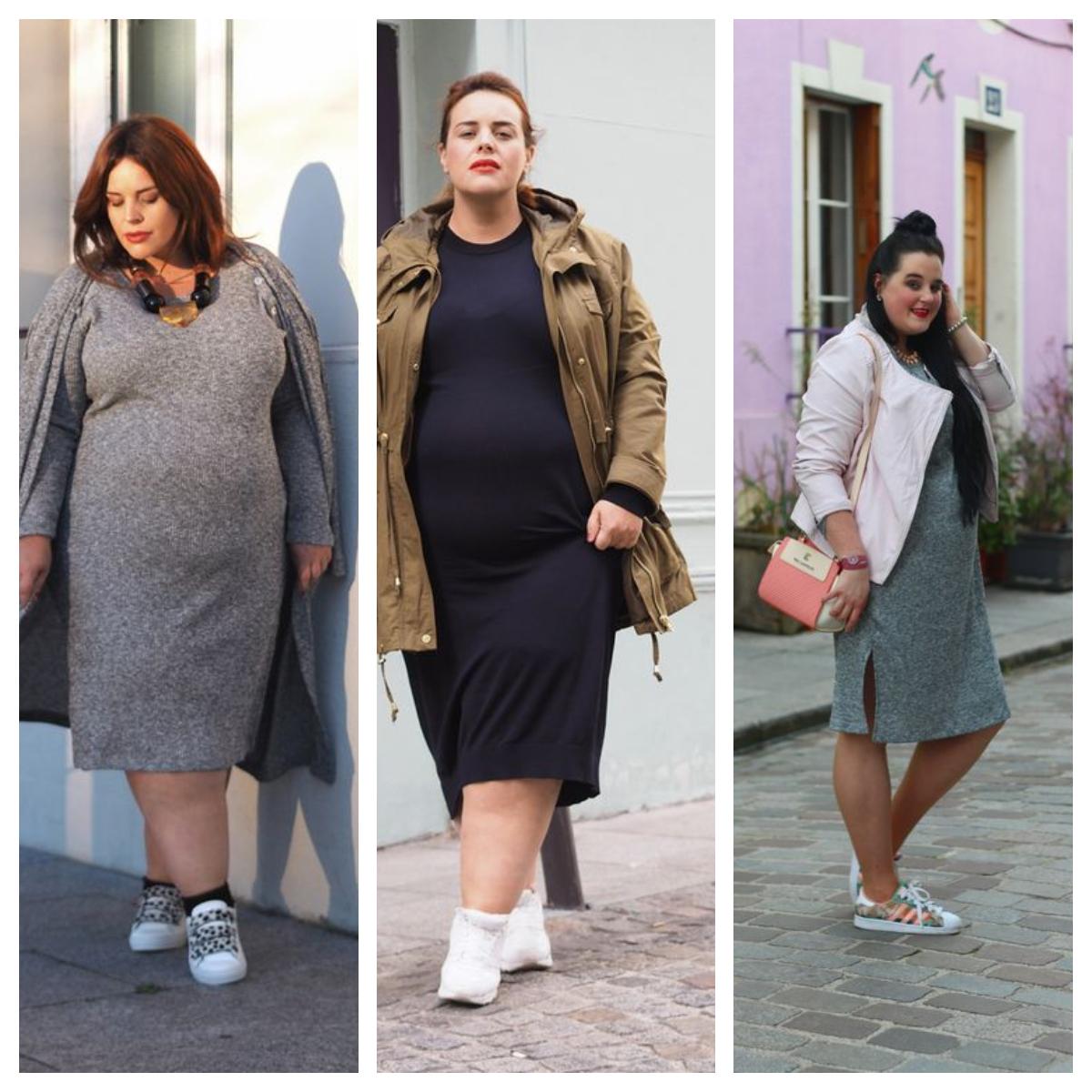 selección premium d77aa b5dd9 Cómo combinar zapatillas y vestidos siendo gorditas?