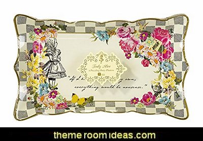 Alice Food Serving Platter   Alice in Wonderland party decorating ideas - Alice in Wonderland theme party decorations - Alice in Wonderland costumes -  Alice in Wonderlnd wall decals - Alice in Wonderland wall murals -  tea party theme Alice in Wonderland Tea Party
