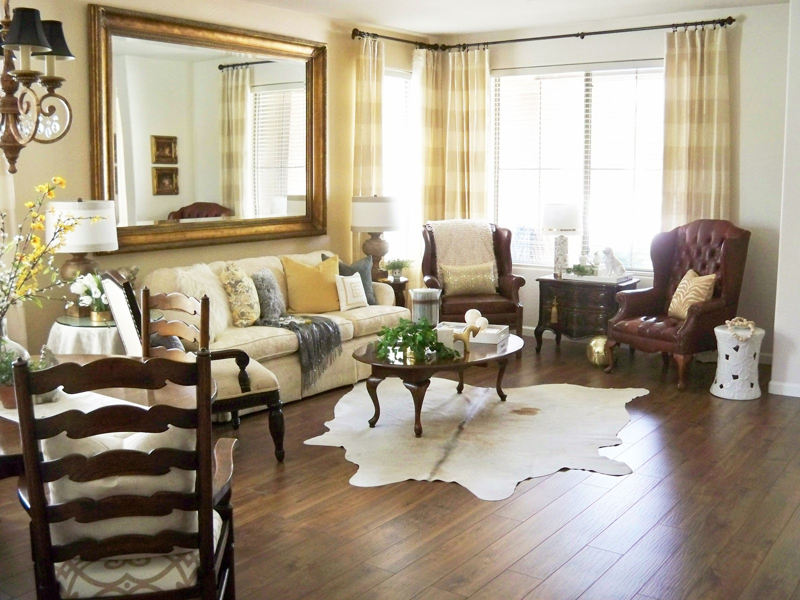cowhide rug living room a stroll thru how to use a cowhide rug tips 12583