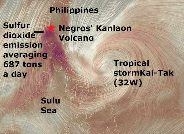 Major quake or major eruption alert Kanlaon Volcano Philippines  Naamloos