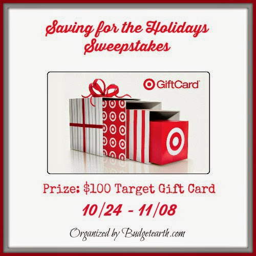 Saving for the Holidays Sweepstakes - $100 Target Gift Card!!!!