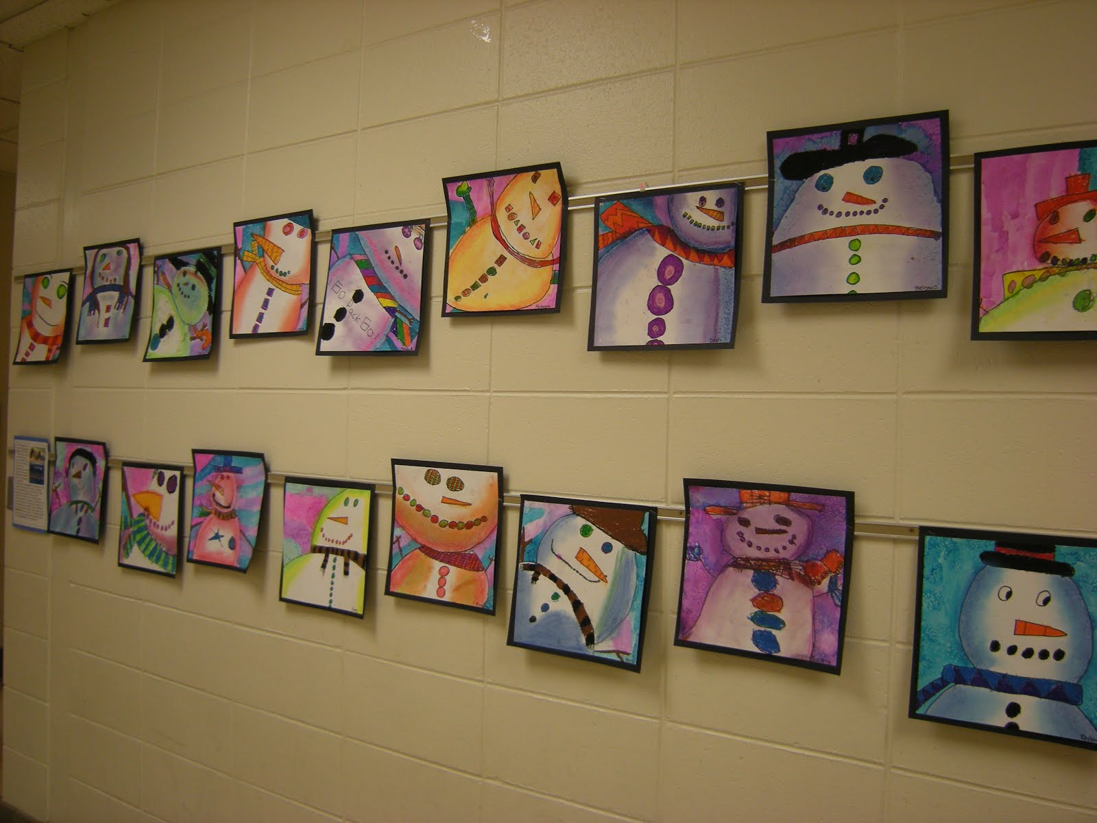 What S Happening In The Art Room 3rd Grade Snowmen