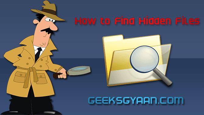 How to find hidden files view hidden files