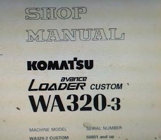 Wa 320-3 shop manual wheel loader komatsu