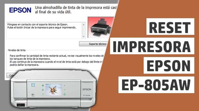 resetear almohadillas impresora Epson EP805AW