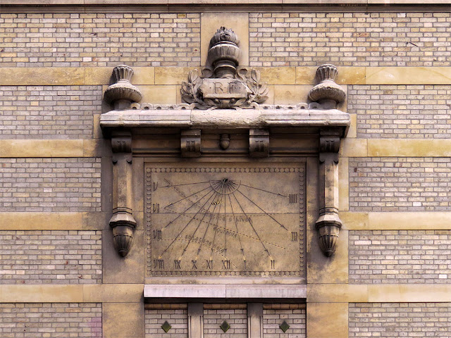 Sundial on a wall of the Lycée Buffon, rue de VaugirardParis