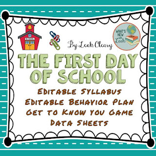The First Day of School Resources
