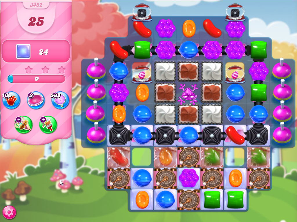 Candy Crush Saga level 3482