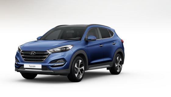 colori Nuova Hyundai Tucson 2016 Blu Scuro - Ash Blue frontale davanti