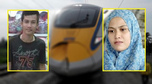 gambar Mohd Afendy, lelaki dilanggar train ets, berkecai dilanggar ets