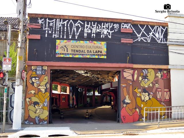 Vista da entrada do Centro Cultural Tendal da Lapa - Lapa - São Paulo