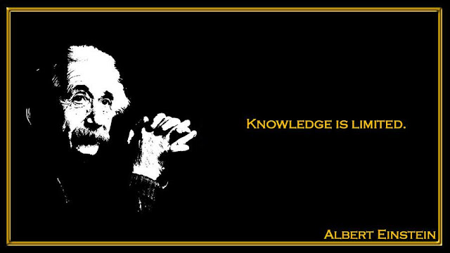 Knowledge is limited Albert Einstein inspiring quotes