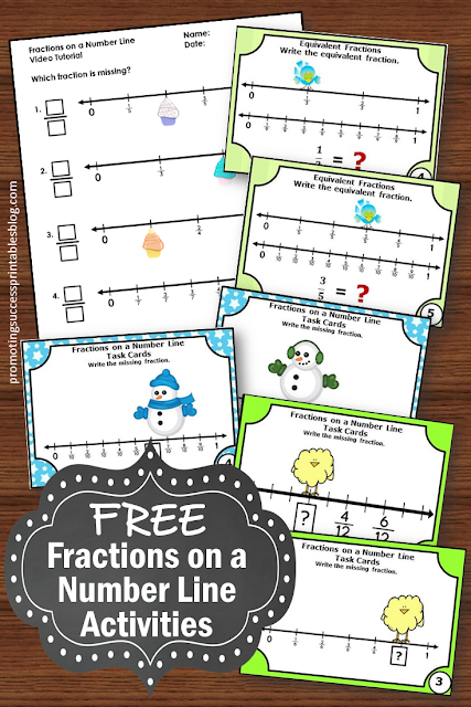 free fractions on a number line activities 3rd grade teaching