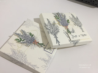 Lots of Lavender Note Card Box