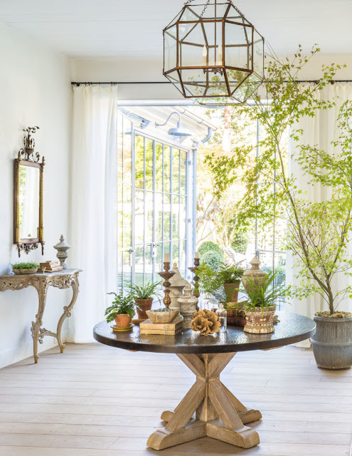 image result for traditional modern farmhouse zinc table vignette California renovation Giannetti