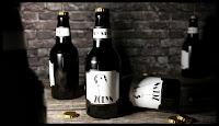 Żodyn - render piwnych butelek