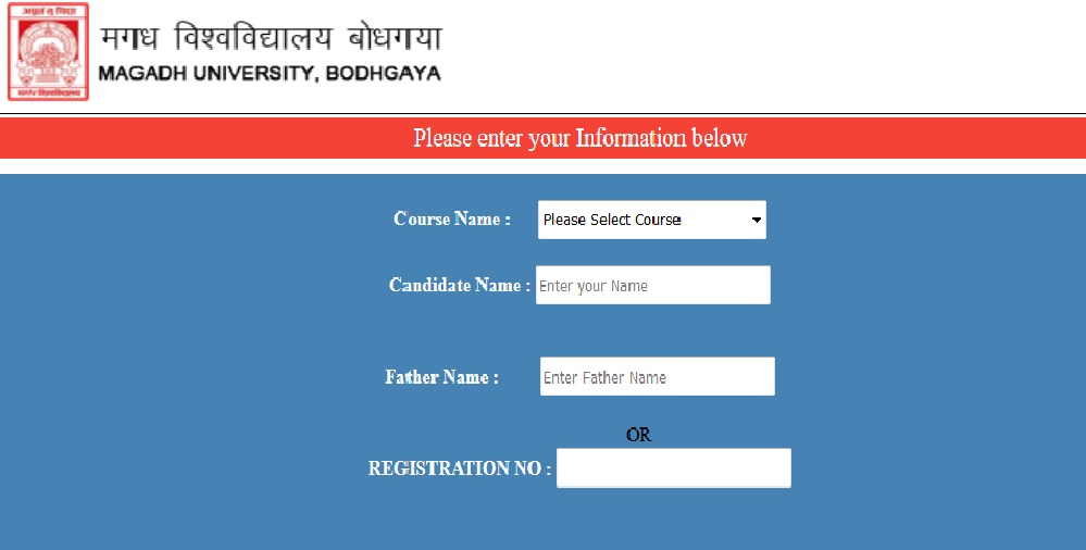 Magadh University MU UG /PG Admit Card Download 2018