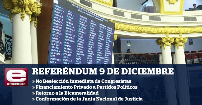 ÚLTIMO MINUTO: Congreso de la República aprueba someter a referéndum el 9 de diciembre las cuatro reformas del Ejecutivo