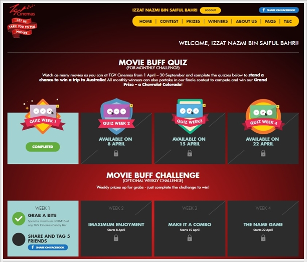 Movie Buff Quiz and Movie Buff Challenge