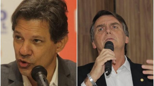 Paraná Pesquisas: Bolsonaro tem 31%, Haddad chega a 20%