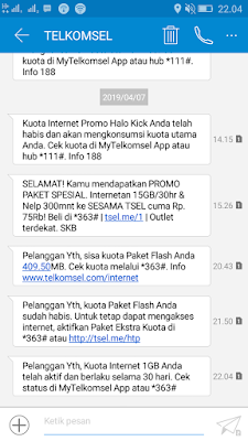 Bukti Penukaran Telkomsel Poin dengan paket data Internet 1GB 30 hari