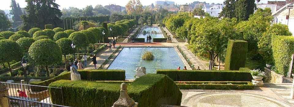 Los jardines del Alcazar de los Reyes Cristianos en Córdoba