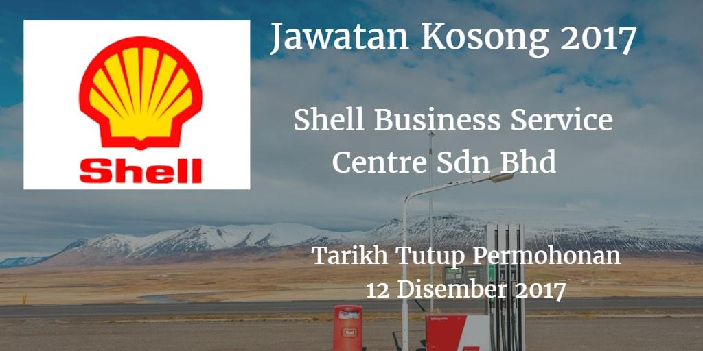 Jawatan Kosong Shell Business Service Centre Sdn Bhd 12 Disember 2017