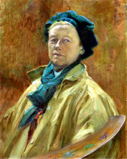Helen Mabel Trevor, Self Portrait, Portraits of Painters, Helen Mabel, Fine arts, Portraits of painters blog, Paintings of Helen Mabel