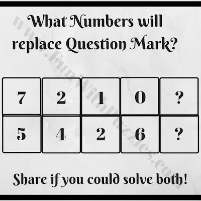 Maths Brain Teaser to find missing numbers