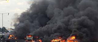 Many feared dead as tanker explodes around Otedola bridge, Lagos-Ibadan expressway (photos)