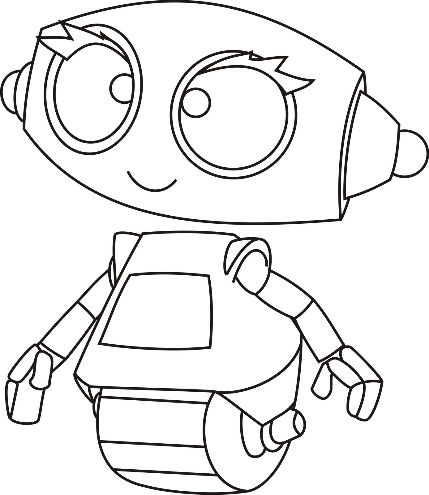 Robot printable coloring pages for Robot coloring page