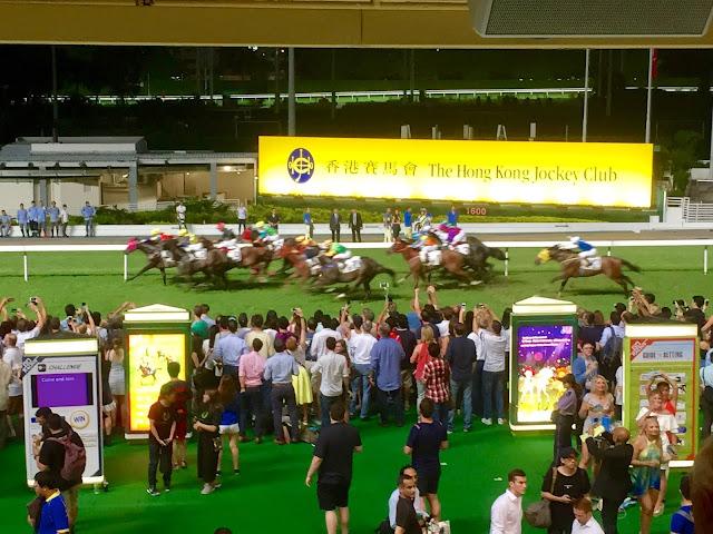 Wednesday night horse racing at Happy Valley, Hong Kong