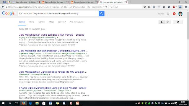 Tips membuat blg dari google
