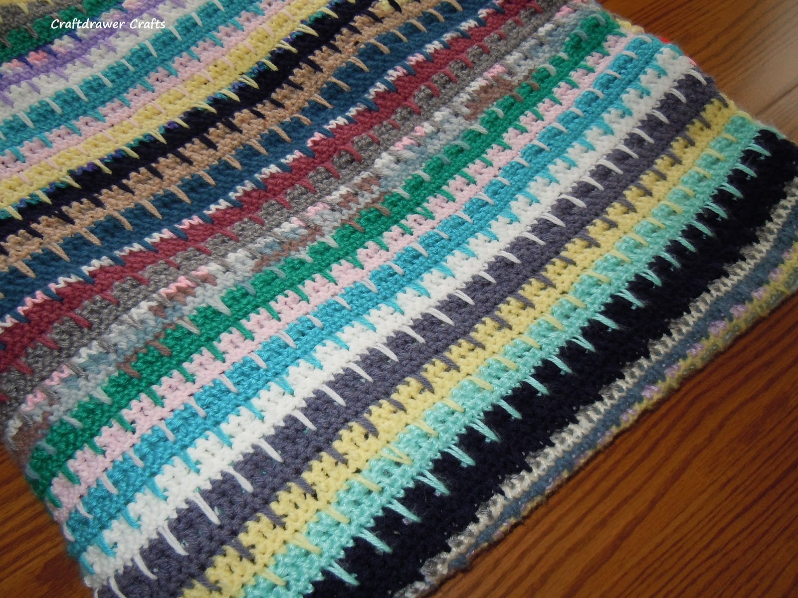 Free Crochet Pattern Easy To Crochet V Stitch Scrap Yarn Afghan