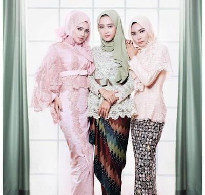 Model baju batik pesta gamis pernikahan