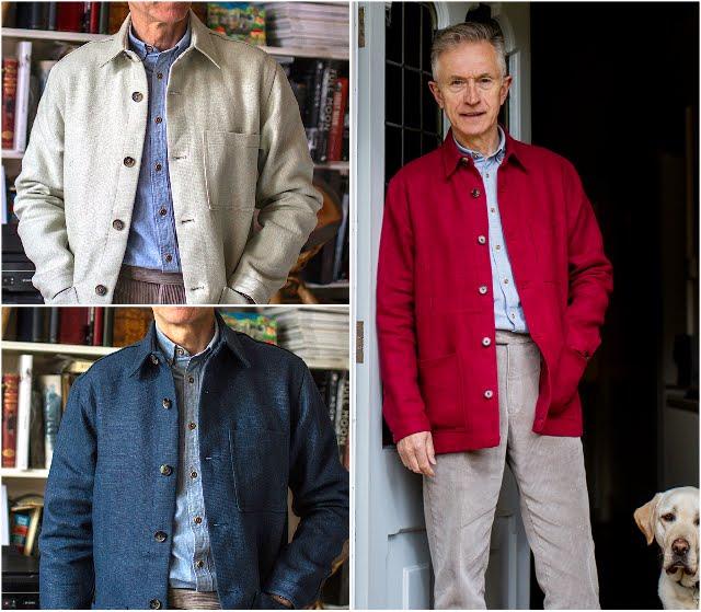 linen, railway jacket, three colours,