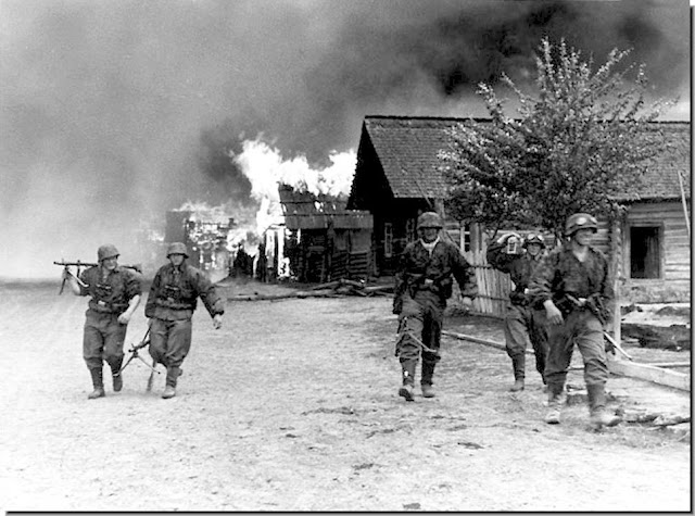 Scorched Earth Policy Ostfront burn  Russian village