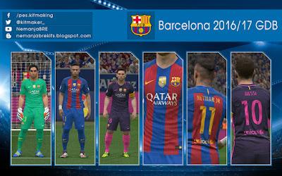 PES 2016 Barcelona 2016-17 GDB by Nemanja