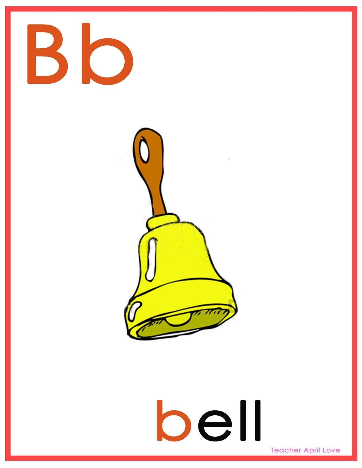 Free Worksheets Letter Bb Flash Cards