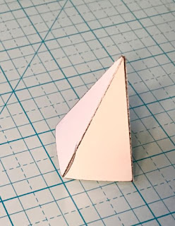 Steeple pattern DIY cut out and taped