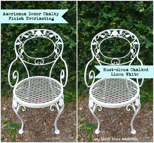 tutorial for chalk painted chairs