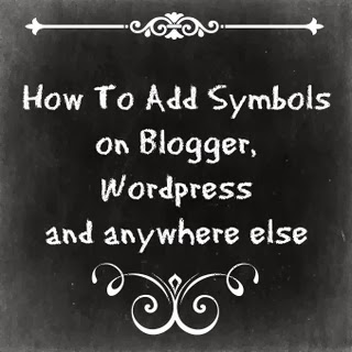 Texasdaisey teaches how to add symbols on blogger, wordpress & anywhere