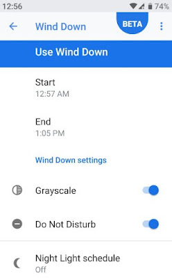 Wind Down Android Pie 9.0