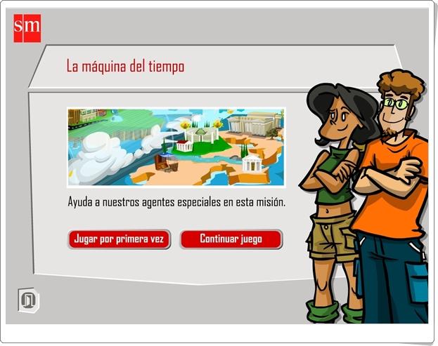 """""""La Máquina del Tiempo"""" (Aventuras interactivas de Lengua Española de 6º de Primaria)"""